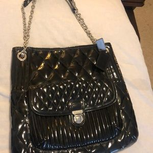 Coach black patent leather purse